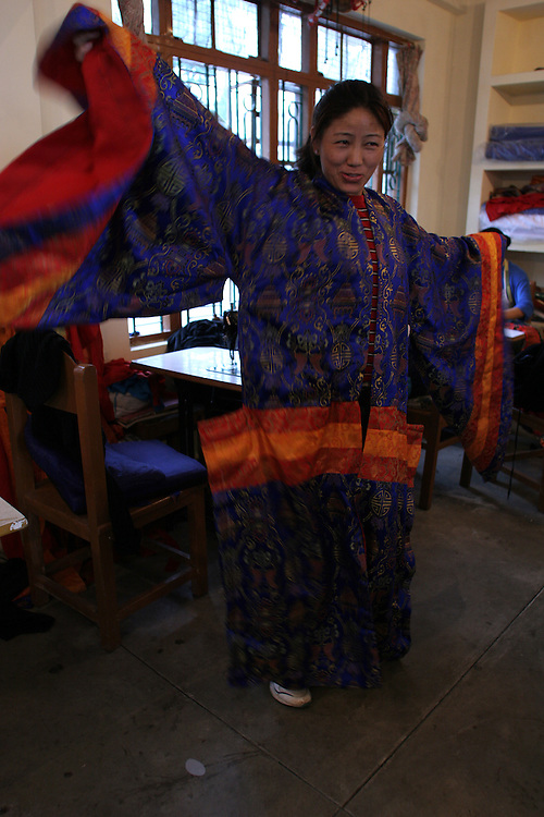 Costume shop at TIPA, the Tibetan Institute for the Performing Arts. McLeod Ganj, Dharamsala, India. 7/28/05.