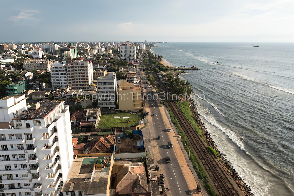 Colombo Skyline December 2014. View from Ozo Hotel on Marine Drive in Colombo 4