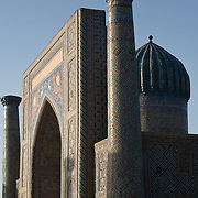 Sher Dor Medrassa in Samarkand's Registan, in early evening