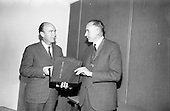 1967 Presentation of Postal Course to Dr. P. Hiller T. D. Minister for Labour