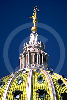 """PA Capitol Dome, """"Commonwealth"""" Sculpture Harrisburg, PA"""