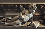 Palermo, S. Maria degli Angeli church, la Gancia,&quot; Putto&quot; work of art by Giacomo Serpotta 1700-1724.<br /> Palermo, chiesa della Gancia, &quot;putto&quot; opera di Giacomo Serpotta 1700-1724...
