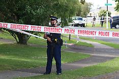 Auckland-Police car shot at, Manurewa