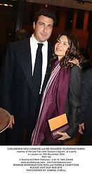 CARLAMARIA ORSI-CARBONE and MR EDUARDO TEODORANI-FABBRI nephew of the late Fiat chief Giovanni Agnelli, at a party in London on 19th November 2003.<br /> POT 162