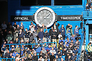 Chelsea fans in the spring sunshine during the Premier League match between Chelsea and Wolverhampton Wanderers at Stamford Bridge, London, England on 10 March 2019.
