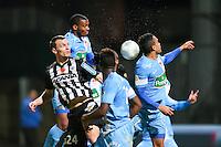 Romain THOMAS / Johan MARTIAL  - 26.01.2015 - Angers / Brest - 21eme journee de Ligue 2 -<br /> Photo : Vincent Michel / Icon Sport