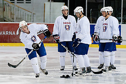 Ken Ograjensek and other players at Slovenian National Team First Ice Hockey Practice for IIHF World Championship in Bratislava, on April 11, 2011 at Hala Tivoli,  Ljubljana, Slovenia. (Photo By Matic Klansek Velej / Sportida.com)