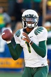 November 13, 2010; Berkeley, CA, USA;  Oregon Ducks quarterback Darron Thomas (1) warms up before the game against the California Golden Bears at Memorial Stadium. Oregon defeated California 15-13.