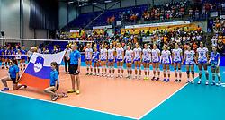 23-08-2017 NED: World Qualifications Greece - Slovenia, Rotterdam<br /> SloveniÎ wint met 3-0 / Team Slovenie<br /> Photo by Ronald Hoogendoorn / Sportida