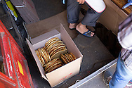 While some bakeries shorten hours or even close during Ramadan, Van's Little Star remained open 7 days a week, in part to keep up with demand for its corek. On the first day of Ramadan these corek were being packed for transit to Istanbul, home to many migrants from Van and other parts of eastern Turkey.
