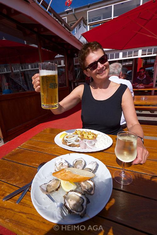 Sylt, Germany. List. Gosch seafood restaurant.