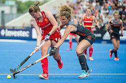 Joie Leigh. England v The Netherlands, Lee Valley Hockey and Tennis Centre, London, England on 11 June 2017. Photo: Simon Parker