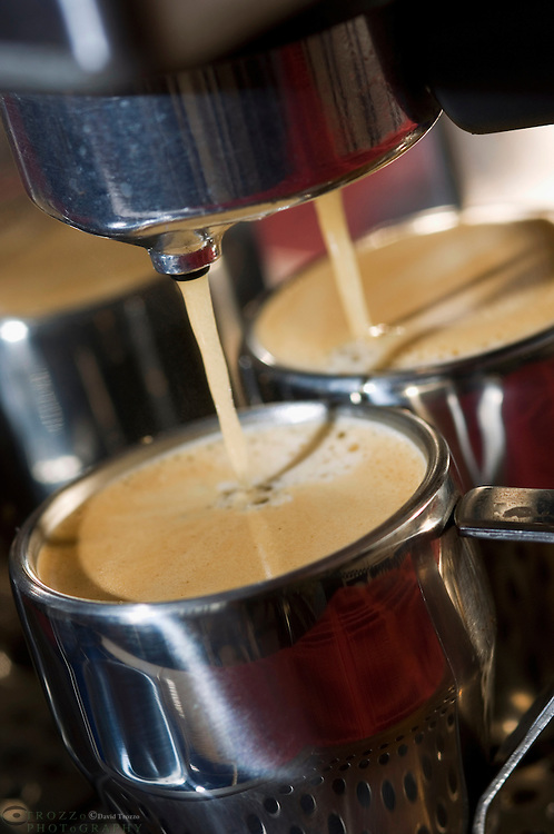 Espresso coffee being made