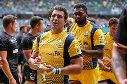 Wynand Olivier of Worcester Warriors looks dejected after Saracens win the match - Rogan Thomson/JMP - 03/09/2016 - RUGBY UNION - Twickenham Stadium - London, England - Saracens v Worcester Warriors - Aviva Premiership London Double Header.