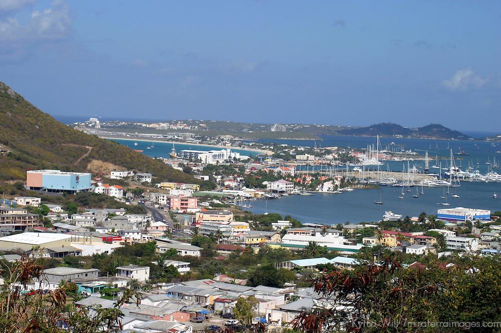 Beautiful Gustavia Harbor on St. Barts island in the Caribbean, a popular cruise destination.