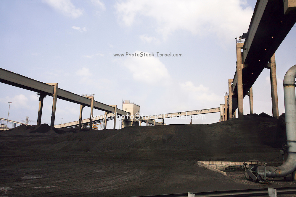 Israel, Hadera, Coal storage for the coal operated power plant