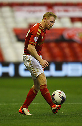 Chris Burke of Nottingham Forest in action - Mandatory byline: Jack Phillips / JMP - 07966386802 - 11/08/15 - FOOTBALL - The City Ground - Nottingham, Nottinghamshire - Nottingham Forest v Walsall - Football League Cup Round 1