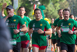 July 17, 2017 - Mexico City, Mexico - Mexican President Enrique Pena Nieto, center, takes part in the 7th Molino del Rey race in the forest of Chapultepec July 17, 2017 in Mexico City, Mexico. (Credit Image: © Presidenciamx/Planet Pix via ZUMA Wire)