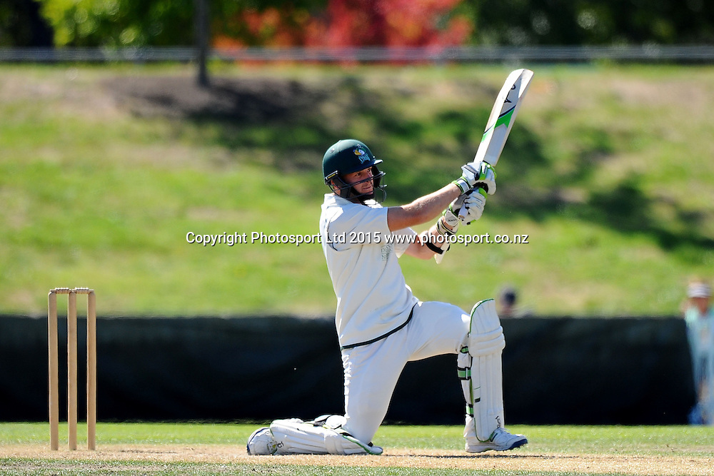 Central Stags player Seth Rance during their Plunket Shield match Central Stags v Canterbury at Saxton Oval, Nelson, New Zealand. Thursday 19 March 2015. Copyright Photo: Chris Symes / www.photosport.co.nz