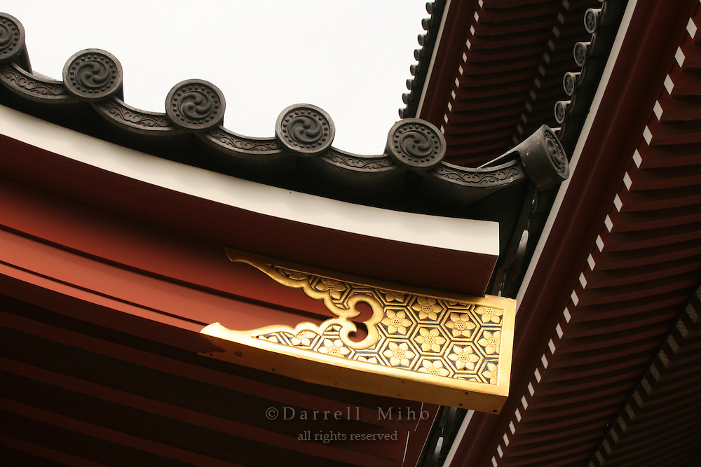 Mar 9, 2006; Tokyo, JPN; Asakusa.Roof detail of a building on the grounds of the Senso-ji Buddhist temple...Photo credit: Darrell Miho