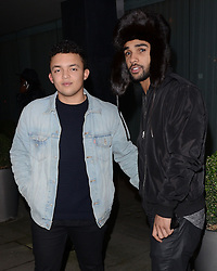 Guest and Lucien Laviscount  attend LCM a/w 2015: Christopher Raeburn and Mens Health Party at The Sanderson Hotel, Berners Street, London on Saturday 10 January 2015