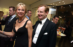 The EARL & COUNTESS OF DERBY at a party in aid of Age Concern hosted by Boodles, 1 Sloane Street, London on 31st October 2006.<br />