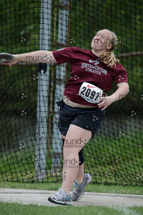 Taylor Broughton of Stratford NW SS - Stratford competes at the 2013 OFSAA Track and Field Championship in Oshawa Ontario, Friday,  June 7, 2013.<br /> Mundo Sport Images/ Geoff Robins