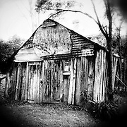 Old wooden shed