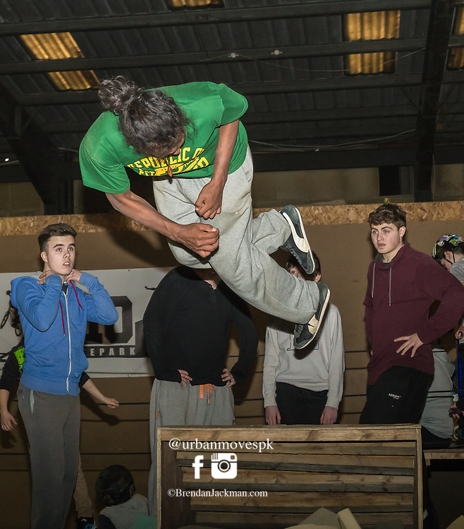 Parkour and Freerunning workshop and photography at D10 Dublin Ireland.