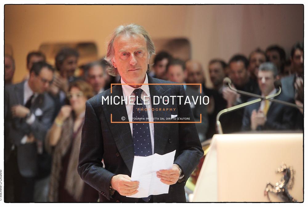 Luca Cordero di Montezemolo.stand Ferrari.Salone dell'auto di Ginevra 2012.Geneve international motor show