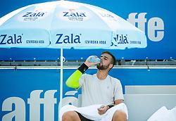 Aljaz Radinski (SLO)  during Day 4 of ATP Challenger Zavarovalnica Sava Slovenia Open 2018, on August 6, 2018 in Sports centre, Portoroz/Portorose, Slovenia. Photo by Vid Ponikvar / Sportida
