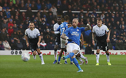 Marcus Maddison of Peterborough United scores from the penalty spot - Mandatory by-line: Joe Dent/JMP - 26/10/2019 - FOOTBALL - Weston Homes Stadium - Peterborough, England - Peterborough United v Coventry City - Sky Bet League One