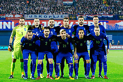 Team Greece during the football match between National teams of Croatia and Greece in First leg of Playoff Round of European Qualifiers for the FIFA World Cup Russia 2018, on November 9, 2017 in Stadion Maksimir, Zagreb, Croatia. Photo by Ziga Zupan / Sportida