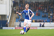 Chesterfield's Liam O'Neil (15) during the EFL Sky Bet League 1 match between Chesterfield and Scunthorpe United at the b2net stadium, Chesterfield, England on 22 October 2016. Photo by Richard Holmes.