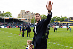 Dave Attwood of Bath Rugby waves to the crowd on the occasion of his final home appearance for the club - Mandatory byline: Patrick Khachfe/JMP - 07966 386802 - 05/05/2019 - RUGBY UNION - The Recreation Ground - Bath, England - Bath Rugby v Wasps - Gallagher Premiership Rugby
