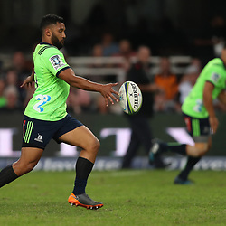 DURBAN, SOUTH AFRICA - MAY 05: Lima Sopoaga of the Pulse Energy Highlanders during the Super Rugby match between Cell C Sharks and Highlanders at Jonsson Kings Park Stadium on May 05, 2018 in Durban, South Africa. (Photo by Steve Haag/Gallo Images)