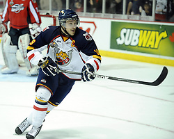Stefan Della Rovere of the Barrie Colts in Game 3 of the Rogers OHL Championship Series in Windsor on Sunday May 2. Photo by Aaron Bell/OHL Images