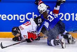 22-02-2018 KOR: Olympic Games day 13, PyeongChang<br /> Final Ice Hockey Canada - USA 2-3 / Sidney Morin #23 of the United States, Brianne Jenner #19 of Canada