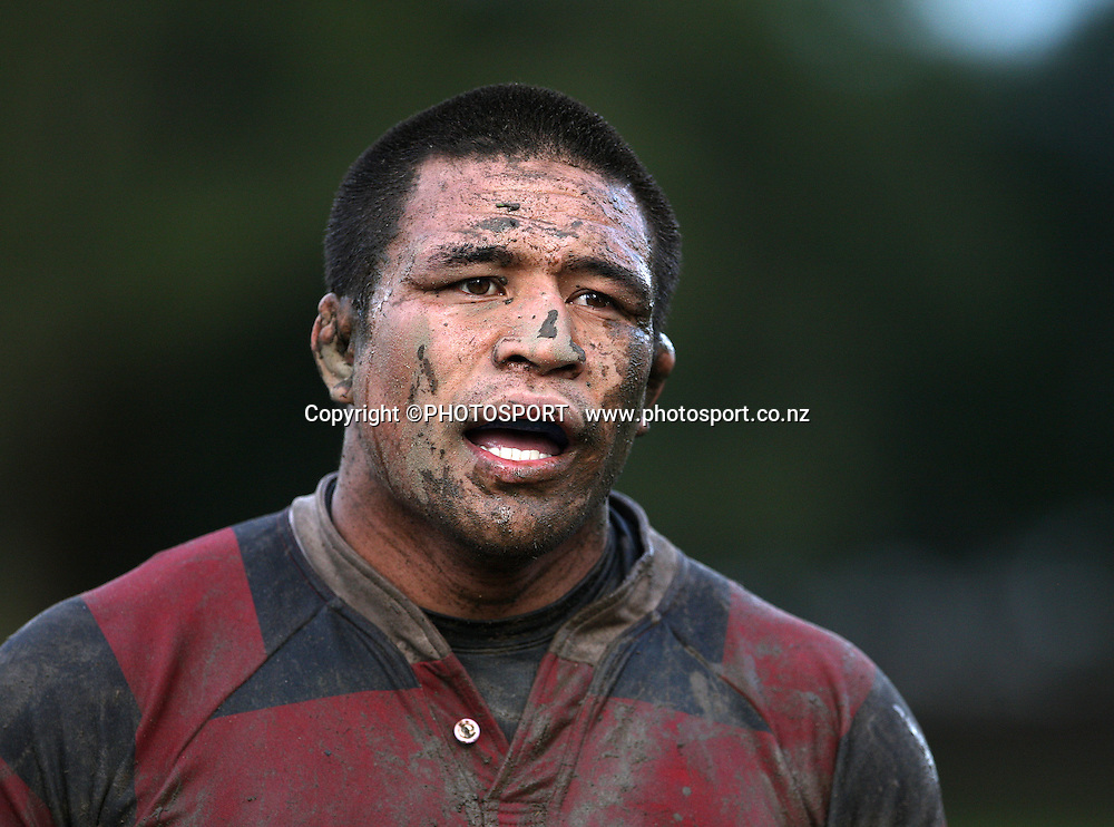Kevin Mealamu, Manukau v Otahuhu, Final Score 60-8 to Otahuhu, Gallaher Shield, Club Rugby, Williams Park, 19 July 2008. Photo: William Booth/PHOTOSPORT