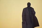 November 18, 1989. Sofia, Bulgaria. A Lenin statue watches as the sun sets over Communist rule. (Photo by Heimo Aga)