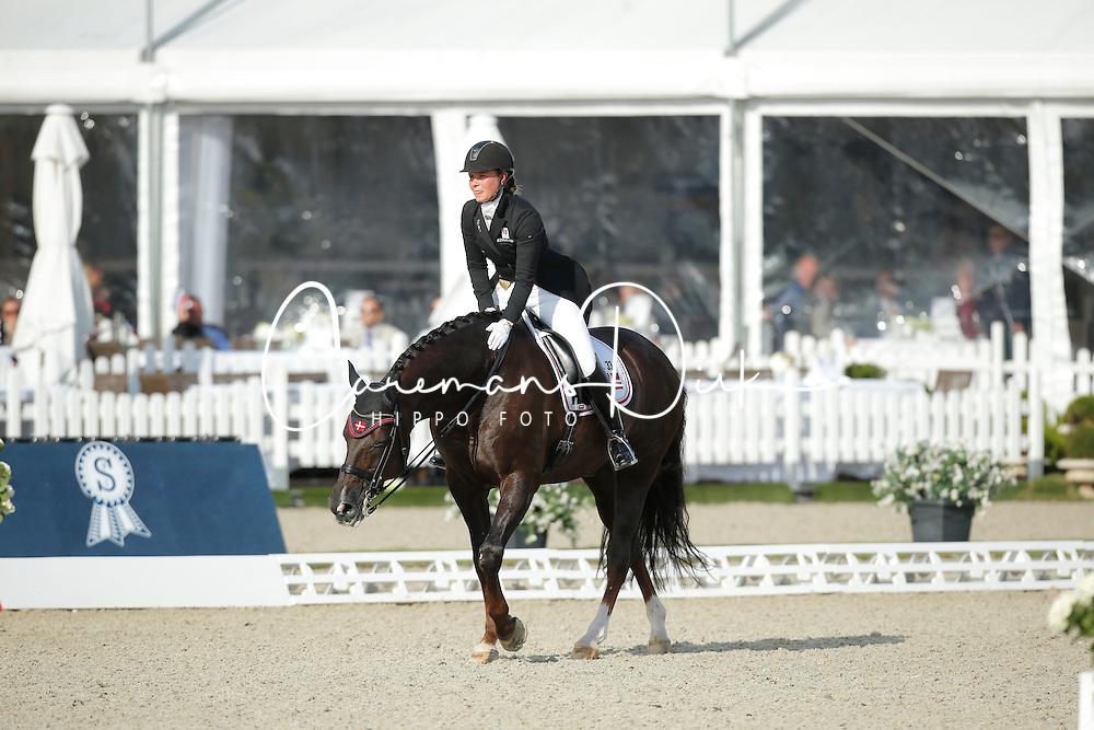 jKasprzak Anna, (DEN), Donnperignon <br /> Grand Prix<br /> CDIO Hagen 2015<br /> © Hippo Foto - Stefan Lafrentz<br /> 09/07/15