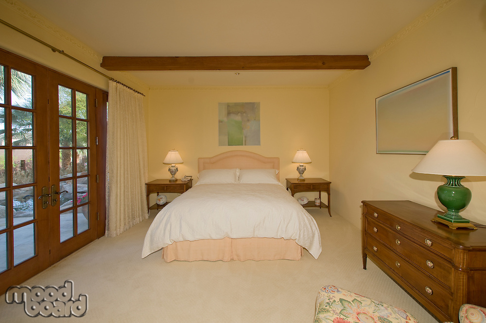 Bedroom interior of luxury mansion