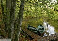 Ruderboote auf Fluss, Masuren, Polen