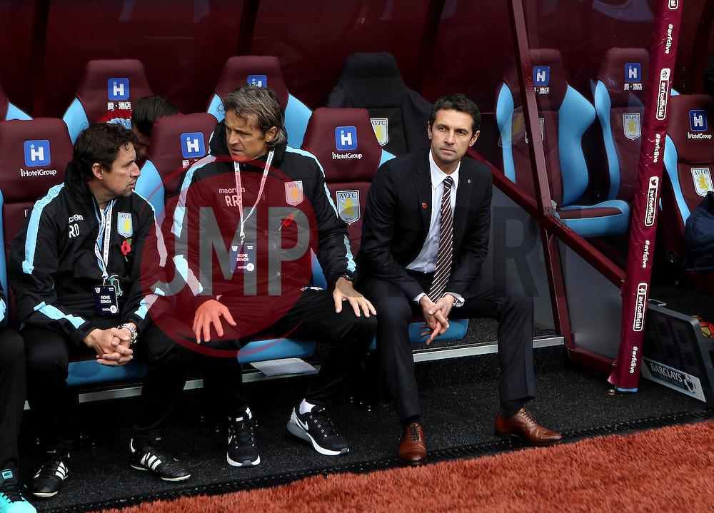 Aston Villa Manager Remi Garde takes his seat at Villa Park - Mandatory byline: Robbie Stephenson/JMP - 07966 386802 - 08/11/2015 - FOOTBALL - Villa Park - Birmingham, England - Aston Villa v Manchester City - Barclays Premier League