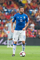 Italy's Andrea Barzagli during match between Spain and Italy to clasification to World Cup 2018 at Santiago Bernabeu Stadium in Madrid, Spain September 02, 2017. (ALTERPHOTOS/Borja B.Hojas)