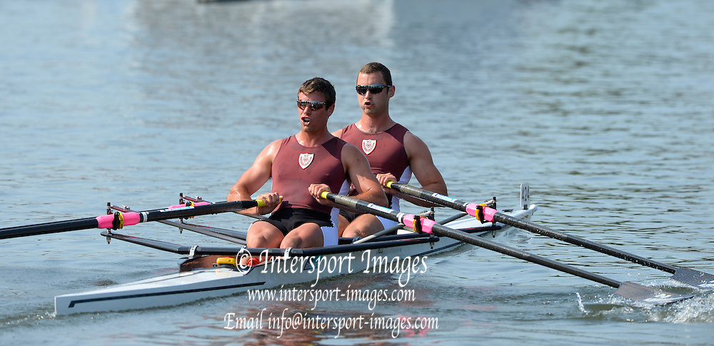 Henley on Thames. United Kingdom.  The Double Sculls Challenge Cup. M.A.N. Arms & R.W. Manson (Waiariki Rowing Club, New Zealand)    2013 Henley Royal Regatta, Henley Reach.  Friday  05/07/2013  [Mandatory Credit Peter Spurrier/ Intersport Images]