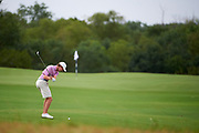 Matthew Riedel hits from the fairway during the Under Armour® / Jordan Spieth Championship presented by American Campus Communities at Trinity Forest Golf Club in Dallas, Texas on August 15, 2017. CREDIT: Cooper Neill for The Wall Street Journal<br /> JRGOLF