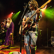 "WASHINGTON, DC - October 10th, 2013 - Andrew Wesson, Hannah Hooper and Christian Zucconi of Grouplove perform at The Hamilton in Washington, D.C. The band's 2011 hit ""Tongue Tied"" sold over 1 million copies, was featured in an iPod Touch commercial and was covered on the TV show Glee. (Photo by Kyle Gustafson / For The Washington Post)"