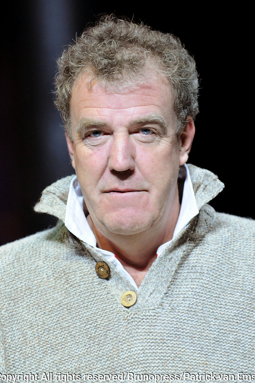 Top Gear Live World Tour in de RAI .<br /> <br /> op de foto:<br /> <br />  Presentator van Top Gear Jeremy Clarkson