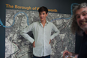 TOM EVETTS, Pop-UP Horsebox Gallery Preview of the Celebration of the Horse in art today  at the Wandsworth Museum,  West Hill. London SW18. 14 August 2012.